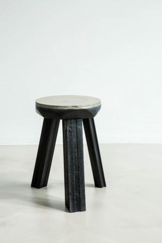 studio louis delbaere tripod stool trash black-2
