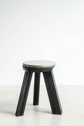 studio louis delbaere tripod stool trash black-3