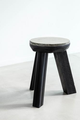 studio louis delbaere tripod stool trash black-7