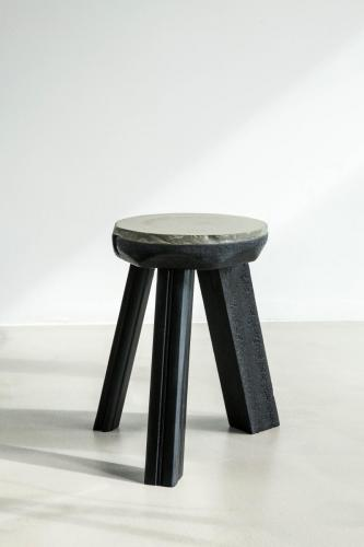 studio louis delbaere tripod stool trash black